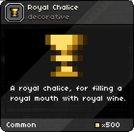 Royal chalice