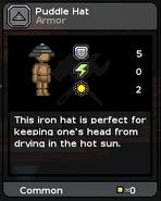 Puddle hat