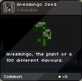 Avesmingo Seed tooltip