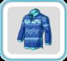 WinterBlueV-neckSweater