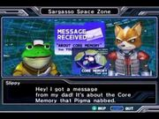 Star Fox Assault Core Memory Message