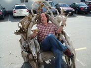 Andy Mikita on throne