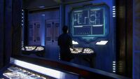Aurora-class battleship auxilary control room