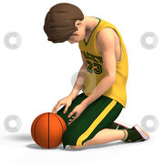 Cutcaster-photo-100121808-Dejected-basketball-player