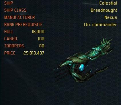 Celestial ship