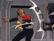Worf batleth Malibu Comics