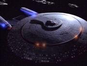 USS Enterprise-D phaser array power up