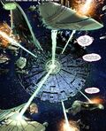The Borg is attacking a Romulan armada - Star Trek - Boldly Go 003
