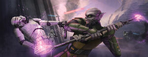 Zeb using bo-rifle