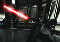 Compressed Red Lightsaber Sith Warrior Starkiller