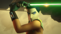 Ezra wields a lightsaber on Reklam Station.png