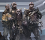 Priests and crab-harp