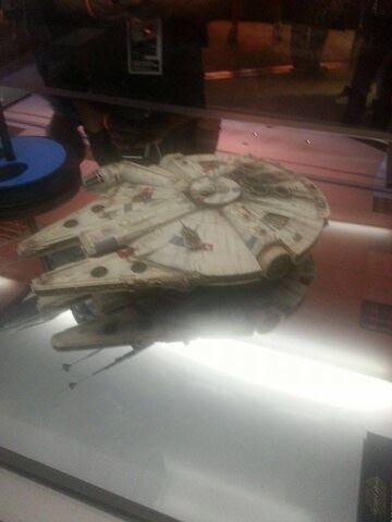File:Millennium Falcon The Force Awakens Exhibit.jpg