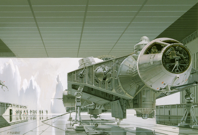 File:Ralph McQuarrie art of captive Falcon on Imperial capital planet of Alderaan.png