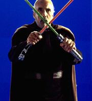 Dooku BTS two lightsabers