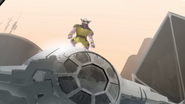 Zeb on a TIE Fighter