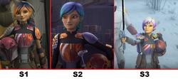 Sabine's Armor & Hair Series Progression