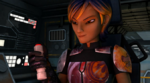 Sabine and the button