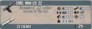 Mini Uzi 22 Infocard