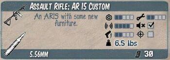 Assault rifle ar 15 custom