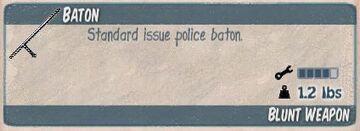 Baton-police
