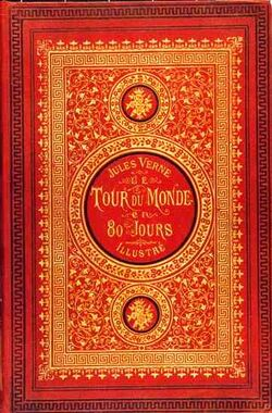 Around the world in eighty days-Jules Verne cover