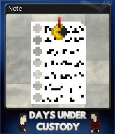 Days Under Custody Card 4
