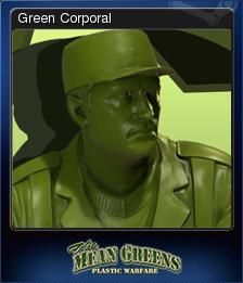 The Mean Greens - Plastic Warfare Card 03