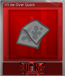 Bunker - The Underground Game Foil 15