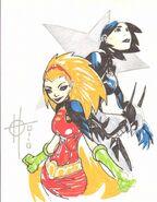 Damion Scott Batgirl and Robin