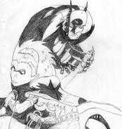 Stéphanie and Batman