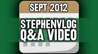 StephenVlog Q&A - September 2012 (w My Parents!)
