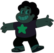 Steven in Malachite's Realm Underwater