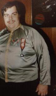 Commodore Caffey in dress uniform crop