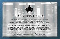 USS Invictus Plaque