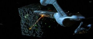 Enterprise-E engages Borg at 001