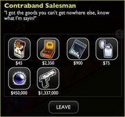 Contraband salesman