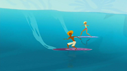 S2 E2 Reef sees Broseph and Fin surfing