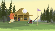 S1 E14 the golfer is chased away by the lawn mower