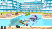 """S1 E1 Emma says """"Is that a Jeep in the pool?"""""""