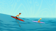 S1 E8 Reef and Fin paddle out to the big waves