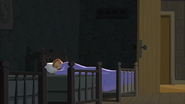 S1 E15 Lo sleeps in the bed at the end
