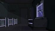 S2 E8 Lightning lights up the darkened room