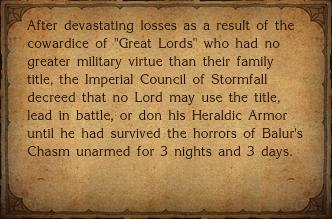 Heraldic Armor-Desc