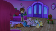 Sleeping pets in Strawberry's bedroom