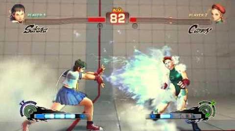 Super Street Fighter 4 - Sakura Ultra 2 Shinku Hadoken Horizontal