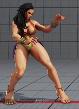 File:SFV Laura Summer Hidden Costume Easter Egg.PNG