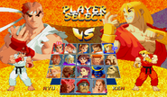 Street Fighter Zero 2 Alpha Select Screen