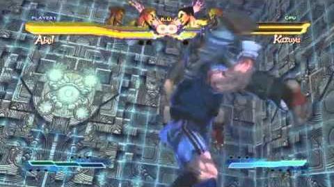 Guile's Super Art and Cross Assault in Street Fighter X Tekken