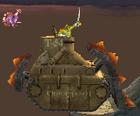 T-54 vehicle & soldier